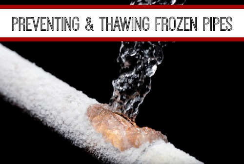 Preventing Amp Thawing Frozen Pipes Decoverly Iv